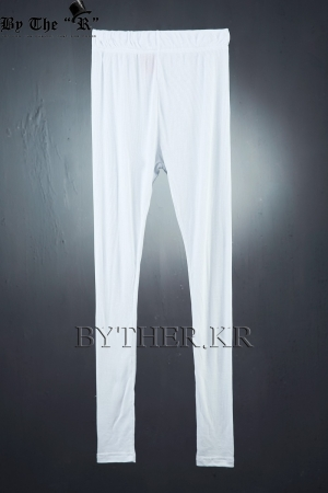 ByTheRByTheR Basic White Golgi Leggings