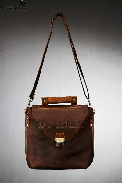 ByTheRBrown Leather Cross Messenger Bag